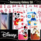 迪士尼授權正版 三星 SAMSUNG GALAXY S6 G9200 休閒點點透明軟式保護套 手機殼 (經典組)