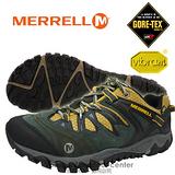 【美國 MERRELL】男新款 Allout Blaze Gore-Tex 多功能登山健走鞋 灰/黃 21263