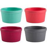 《TRUDEAU》盅型蛋糕烤杯4入(紅綠灰紫)