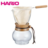 HARIO 玻璃手沖咖啡壺組-3~4人/DPW-3(含法蘭絨濾布)