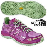 【美國 The North Face】女新款 ULTRA TR II 輕量透氣耐磨越野跑鞋 CKM4 拜占庭紫/天堂綠