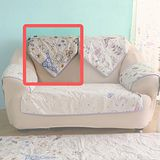 HomeBeauty 極度涼感精梳棉沙發保潔墊-椅背 春漫鐵塔