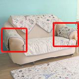 HomeBeauty 極度涼感精梳棉沙發保潔墊-扶手 春漫鐵塔