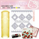 【Hello Kitty】魅力蘋果-外雕玻璃水晶印章組(4色)
