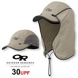 【美國 Outdoor Research 】SUN RUNNER CAP™ UPF30 抗紫外線透氣護頸帽/抗UV防曬後遮 鴨舌帽.跑步帽.棒球帽.擋片可拆 卡其 OR80610