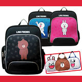 【LINE FRIENDS】EVA護脊雙層書背包+造型便當袋
