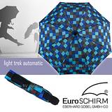 【德國 EuroSCHIRM】全世界最強的雨傘!!! LIGHT TREK AUTOMATIC 高彈性抗鏽自動傘/折疊傘/戶外風暴傘/晴雨傘/ 3032-CWS1 方格亮藍