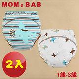(購物車)【MOM AND BAB】可愛飛機三層防水學習褲(兩入組)(6~14公斤)