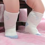【KEROPPA】可諾帕MIT12~24個月嬰兒厚底止滑1/2短襪x3雙(白配藍)95001-E