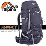 【英國 LOWE ALPINE】新款 AXIOM DIRAN ND65:75 登山健行背包(含背包套) /FMP51AU 茄紫
