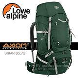 【英國 LOWE ALPINE】新款 AXIOM DIRAN 65:75 登山健行背包(含背包套) /FMP48CR 鱷魚綠