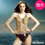 【Heatwave熱浪】花間迷彩 萊克連身泳裝(加大)-81475