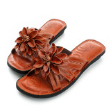 kadia.輕鬆外出拖鞋-棕