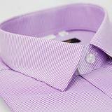 【金安德森】紫色千鳥紋窄版短袖襯衫