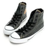 Converse 男/女鞋 丹寧牛仔帆布鞋(高統)-深灰-147914C