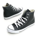 Converse 男/女鞋 Chuck Taylor 皮革帆布鞋(高統)-黑-1S581