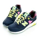 New Balance(男/女)經典慢跑鞋-深藍-MRT580GN