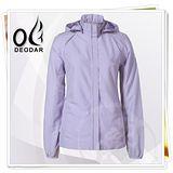 【DEODAR】美國杜邦 Coolmax 3M反光 女永久型防曬外套 帽可拆(UPF40+ ) /薰衣紫 12500169-18
