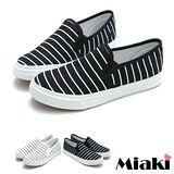 【Miaki】懶人鞋時尚經典平底包鞋休閒鞋 (白色/黑色)