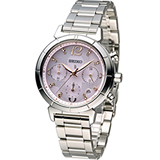 SEIKO LUKIA 20周年紀念款花漾太陽能計時腕錶 V175-0CZ0S SSC857J1