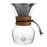 【NO.5 達人咖啡】不鏽鋼濾網 咖啡沖泡玻璃壺 4人份