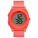 NIXON TIME TELLER DIGI潮流行者電子運動錶-螢光珊瑚紅