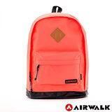 AIRWALK - 古著布紋 簡單豬鼻系筆電後背包 - 小豬橙紅
