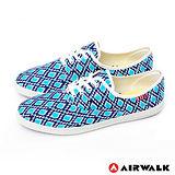 AIRWALK(女) - 幾何普普 亮彩滿分休閒帆布鞋 - 普普藍