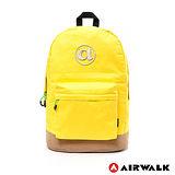 AIRWALK - 頑色糖果系列純色筆電後背包 - 黃色