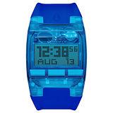 NIXON COMP 浪花海潮休閒運動電子錶-藍x大