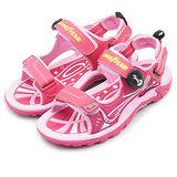 【中大童】GOOD YEAR 多功能運動涼鞋 活力跳躍系列 粉紅 58023