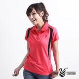 【遊遍天下】MIT台灣製女款抗UV涼爽吸濕排汗機能POLO衫S063天竺紅2L