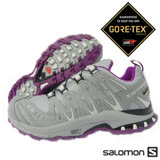 【索羅門 SALOMON】女 XA PRO 3D ULTRA 2 Gore-Tex XCR 防水透氣越野跑步運動鞋 紫紅/灰328072