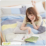 【eyah】頂級極細天絲綿雙人床包涼被4件組-索思