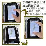 OMAX碳纖紋手機上管馬鞍包5.5吋+雙眼矽膠多功能警示燈