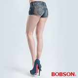 BOBSON 超短[迷你]牛仔短褲-藍色