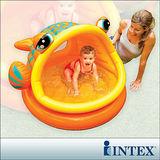 【INTEX】BABY金魚游泳池/遮陽嬰兒水池 (53L)