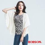 BOBSON 雪紡紗外衣-白色 24097-28