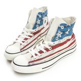 Converse 男/女鞋 Chuck Taylor All Star 帆布鞋(高統)-美國國旗(淺藍)-149496C