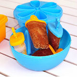 【PS Mall】自製刨冰雪糕模具製冰盒 附碗蓋 同款2入 (J2020)
