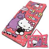 【享夢城堡】HELLO KITTY x RODY 歡樂時光-精梳棉舖棉冬夏兩用兒童睡袋(紅)