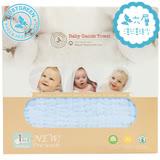 英國 JustGreen 嬰兒六層紗純棉紗布浴巾 95x95cm (粉藍色)