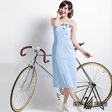 【遊遍天下】MIT涼感抗UV防曬吸排多功能一片裙117水藍(加大尺碼)