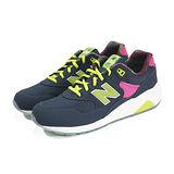 (男女)NEW BALANCE 復古鞋 深藍/螢光綠/亮桃紅-MRT580GN