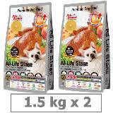 沛克樂 Pets Corner 頂級天然糧雞肉-養生五穀活力餐1.5KG x 2入 (大顆粒)