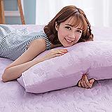 (任)J-bedtime【蝶舞飛揚】單人絕美壓紋X防汙防塵床包式保潔墊(粉紫蝶)