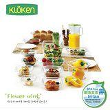 KOMAX 【野餐餐具組】輕透系列5件組 (保鮮盒*3、杯*1、水壼*1)Kloken 5