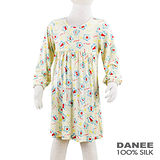 岱妮蠶絲 - (CZ7268P)女童俏皮花朵蠶絲洋裝(80cm~120cm)