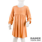 岱妮蠶絲 - (CZ7260P)女童雙面平紋蠶絲洋裝(80cm~120cm)