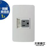【太星電工】聯蓋帶開關-接地單插座 A411D.